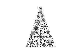 Christmas Tree Made of Snowflakes Christmas Craft Cut File By Creative Fabrica Crafts