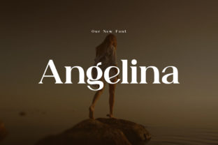 Print on Demand: Angelina Serif Font By eafonts 1