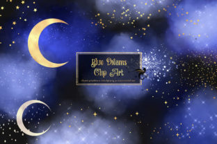 Print on Demand: Blue Dreams Clipart Graphic Illustrations By Digital Curio