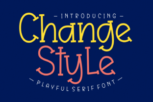 Print on Demand: Change Style Serif Font By Creative Fabrica Fonts