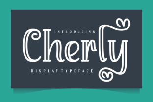 Print on Demand: Cherly Display Font By Creative Fabrica Fonts