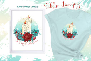 Print on Demand: Christmas Sublimation/Christmas Candles Graphic Illustrations By LerVik