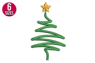 Print on Demand: Christmas Tree Christmas Embroidery Design By Nations Embroidery 1