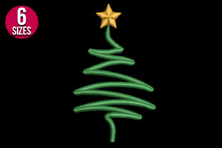 Print on Demand: Christmas Tree Christmas Embroidery Design By Nations Embroidery 2