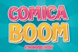 Print on Demand: Comica Boom Display Font By Creative Fabrica Fonts
