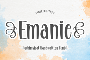 Print on Demand: Emanie Display Font By Creative Fabrica Fonts