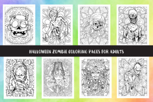 Halloween Zombie Coloring Pages Graphic Coloring Pages & Books Adults By Artist Zone