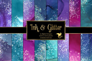 Print on Demand: Ink and Glitter Textures Graphic Textures By Digital Curio