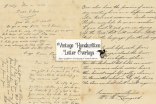 Print on Demand: Vintage Handwritten Letters Overlays Graphic Textures By Digital Curio