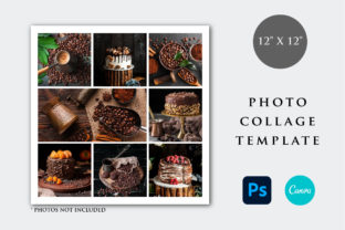 Print on Demand: 12x12 Photo Collage Template Graphic Print Templates By PlannerArtInserts