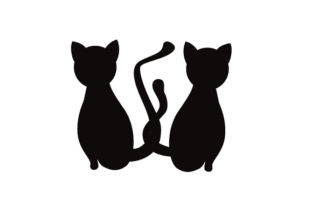 Cats with Tails Intertwined Cats Craft Cut File By Creative Fabrica Crafts