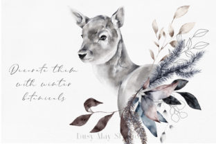 Print on Demand: Christmas Watercolor Animals PNG Graphic Illustrations By Busy May Studio 3