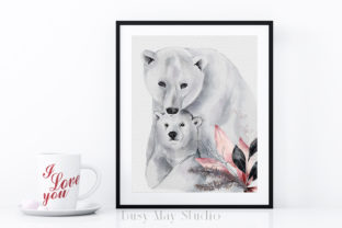 Print on Demand: Christmas Watercolor Animals PNG Graphic Illustrations By Busy May Studio 6