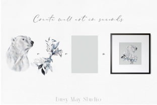 Print on Demand: Christmas Watercolor Animals PNG Graphic Illustrations By Busy May Studio 8