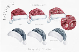 Print on Demand: Christmas Watercolor Animals PNG Graphic Illustrations By Busy May Studio 9
