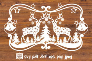 Print on Demand: Christmas Frame Svg, Winter Scene Svg Graphic Crafts By Craft Box
