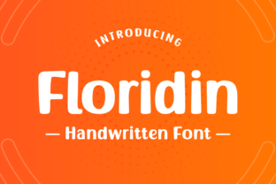 Print on Demand: Floridin Display Font By Creative Fabrica Fonts