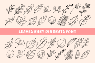 Print on Demand: Leaves Baby Dingbats Font By Creative Fabrica Fonts