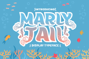 Print on Demand: Marly Tail Decorative Font By Creative Fabrica Fonts