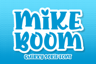 Print on Demand: Mike Boom Display Font By Creative Fabrica Fonts