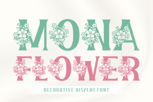 Print on Demand: Mona Flower Decorative Font By Creative Fabrica Fonts