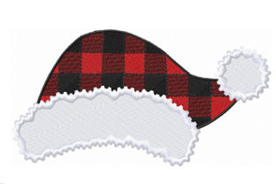 Santa Plaid Hat for Christmas Christmas Embroidery Design By ArtDigitalEmbroidery