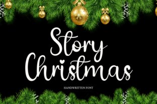 Print on Demand: Story Christmas Script & Handwritten Font By cans studio