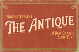 Print on Demand: The Antique Serif Font By almarkhatype