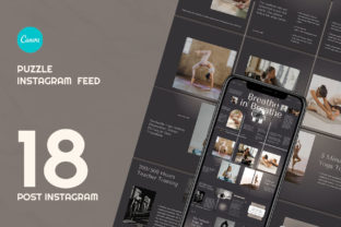Yoga Puzzle Instagram   CANVA Template Graphic Web Elements By qohhaarqhaz