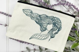 Zentangle Girl Zentangle Embroidery Design By LaceArtDesigns 1