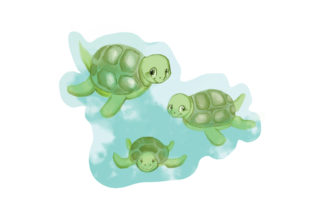 Watercolor Turtles Animals Craft Cut File By Creative Fabrica Crafts