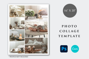Print on Demand: 16x20 Photo Collage Print Template Graphic Print Templates By PlannerArtInserts