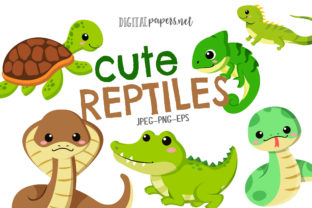Print on Demand: Cute Reptiles Graphic Illustrations By DigitalPapers