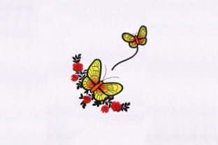 Fluttering Butterflies Bugs & Insects Embroidery Design By StitchersCorp