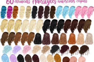 Print on Demand: Hairstyles Clipart Custom Hairstyles Graphic Illustrations By LeCoqDesign