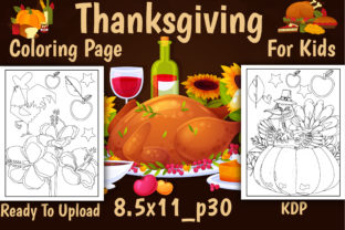 Print on Demand: Thanksgiving Coloring Book Page for Kids Graphic Coloring Pages & Books Kids By J U M P
