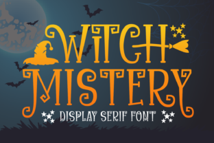 Print on Demand: Witch Mystery Display Font By Creative Fabrica Fonts