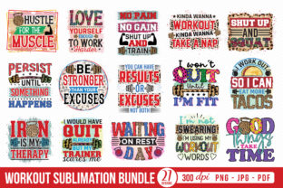 Workout Sublimation Bundle Graphic Crafts By CraftlabSVG
