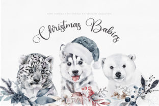 Print on Demand: Christmas Baby Animals Penguin Seal PNG Graphic Illustrations By Busy May Studio