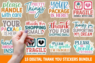 Print on Demand: Digital Thank You Stickers Bundle Graphic Crafts By Designdealy