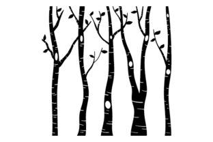 Birch Tree Silhouettes Nature & Outdoors Craft Cut File By Creative Fabrica Crafts