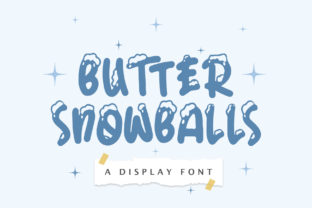 Print on Demand: Butter Snowballs Display Font By getypes