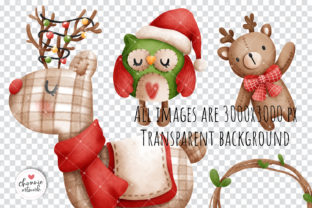 Print on Demand: Christmas Vintage Snowman Clipart Graphic Illustrations By Chonnieartwork 3