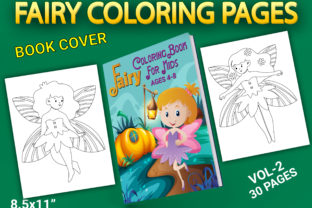Print on Demand: Fairy Coloring Pages with Book Cover Graphic Coloring Pages & Books Kids By Simran Store
