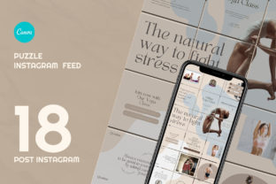 Feel the Yoga Puzzle Instagram   CANVA Graphic Web Elements By qohhaarqhaz