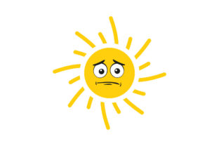 Kawaii Sun with Face Expression Graphic Illustrations By zia studio