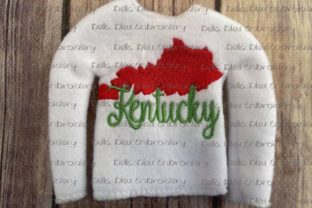 Kentucky State North America Embroidery Design By Bella Bleu Embroidery