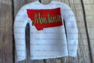 Montana State North America Embroidery Design By Bella Bleu Embroidery