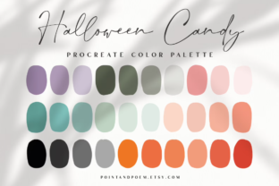 Procreate Color Palette  Halloween Candy Graphic Add-ons By point