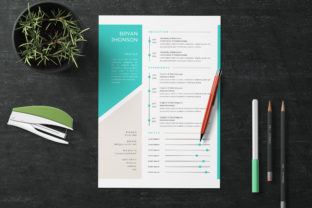 Resume Vol.15 Graphic Print Templates By storictype